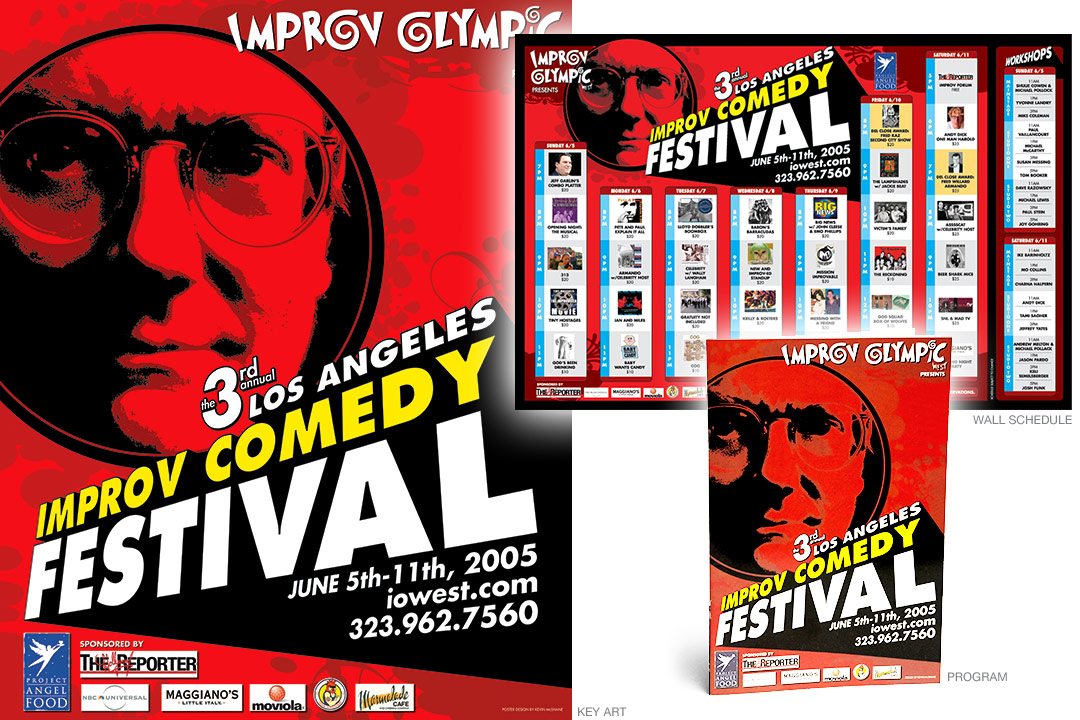 Los Angeles Improv Comedy Festival 2005 branding