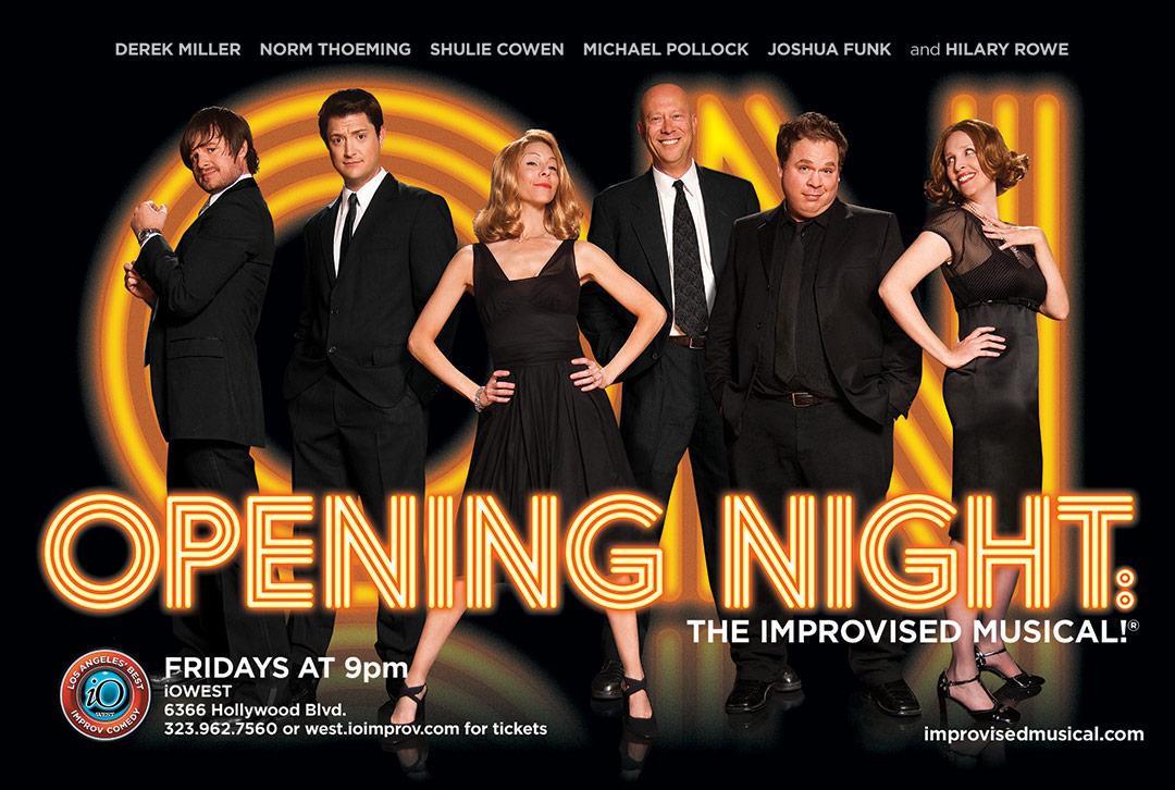 Opening Night: The Improvised Musical! Key Art