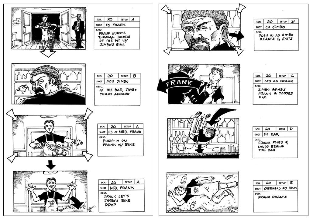 Jimbo's A'Comin' storyboards
