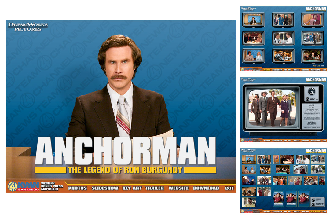 Anchorman Interactive Press Kit