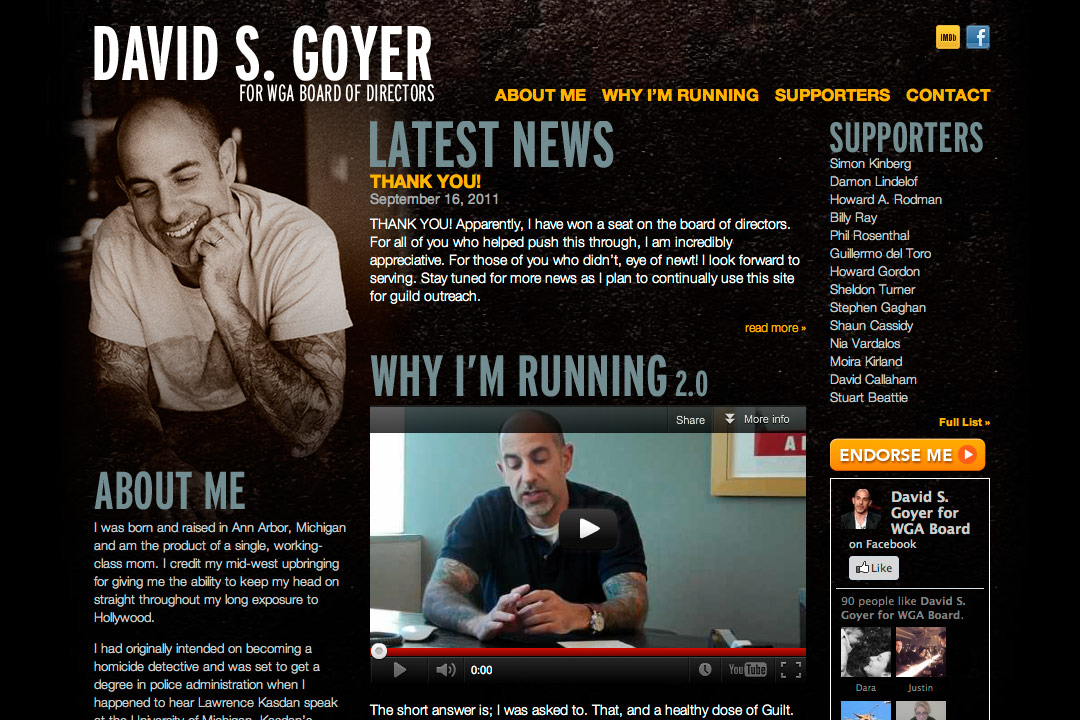 David Goyer website