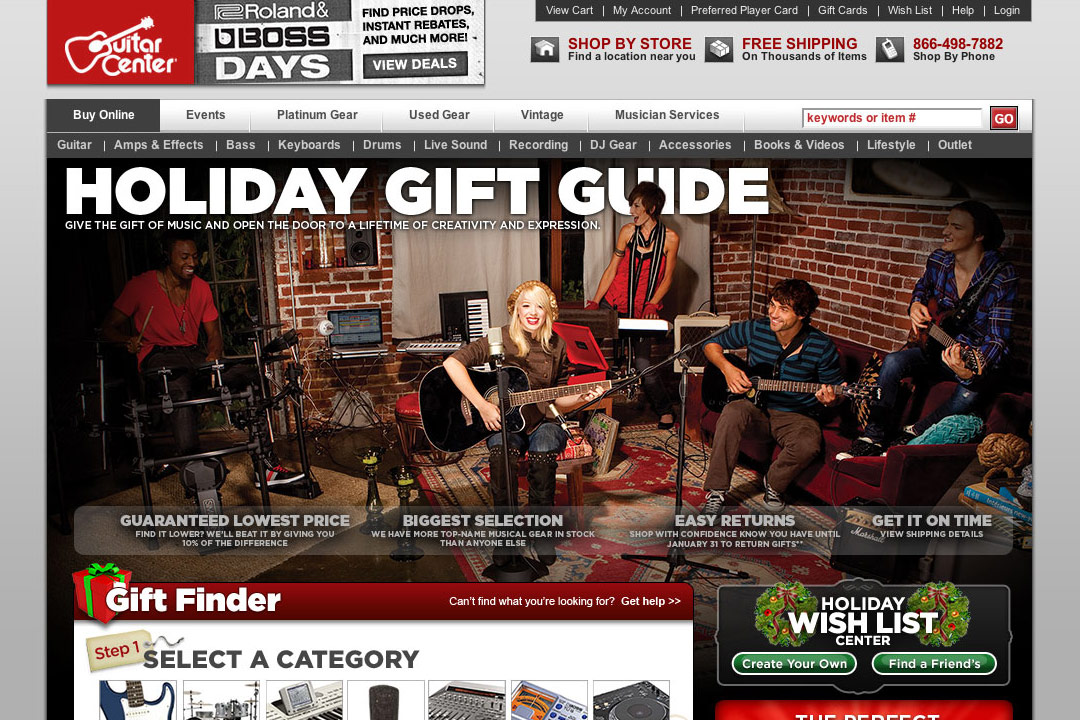 Guitar Center Holiday Gift Guide