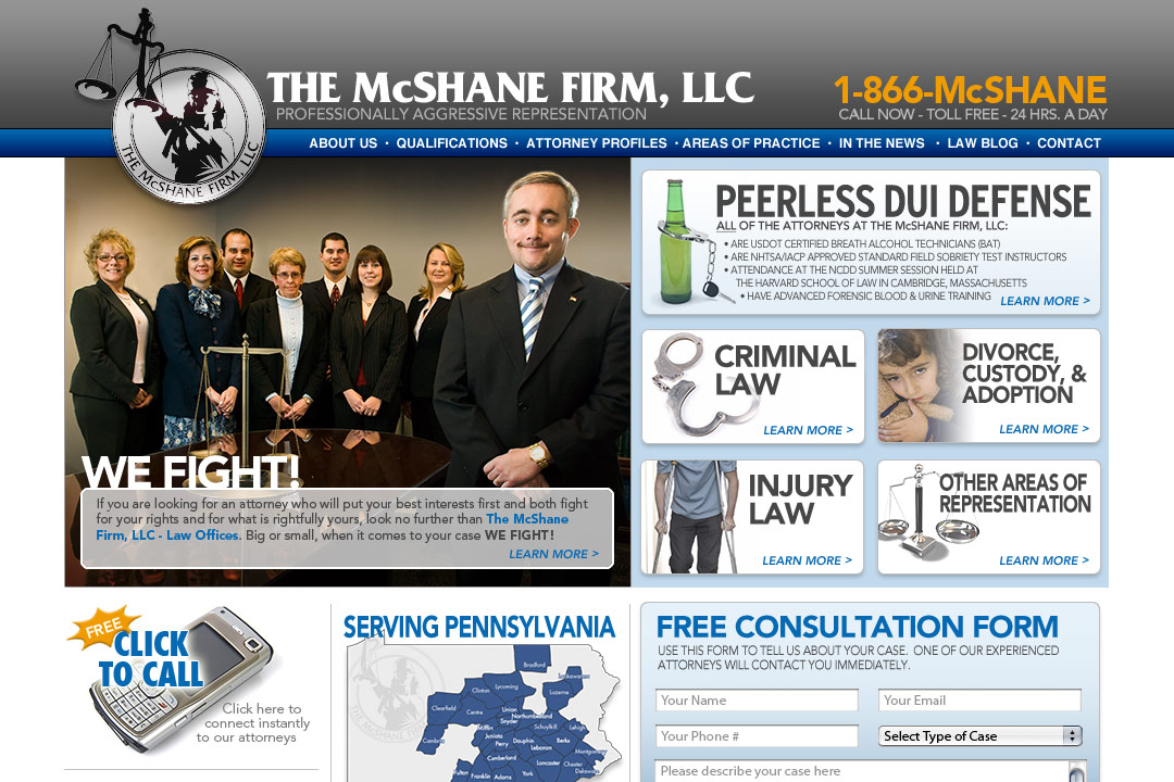 The McShane Firm website