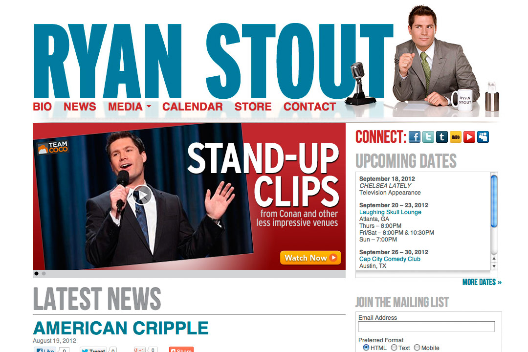 Ryan Stout Website