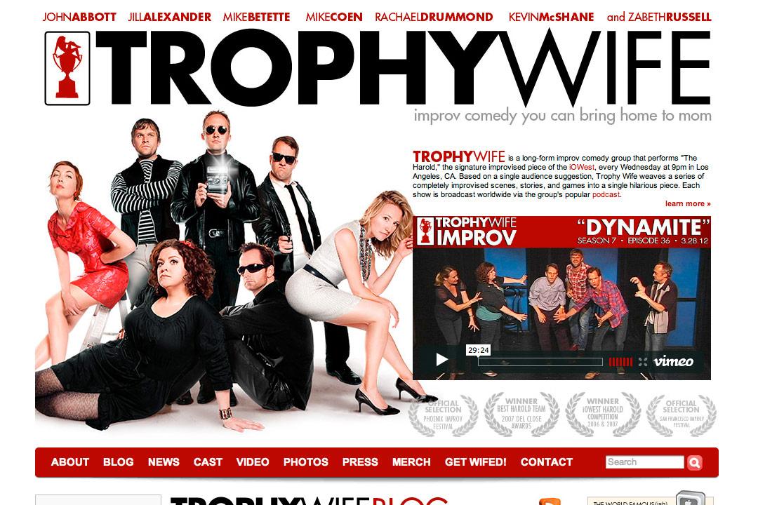 Trophy Wife Improv website
